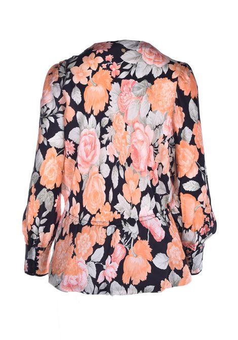 Floral wrap blouse ANTIK BATIK | Blouse | CAMILLE1BLOBLACK