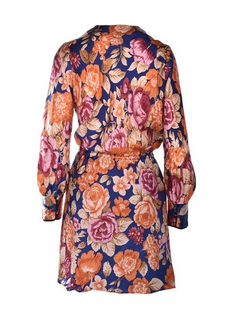 Vestito mini a portafoglio con stampe floreali ANTIK BATIK | Vestiti | CAMILLE1MDRNAVY