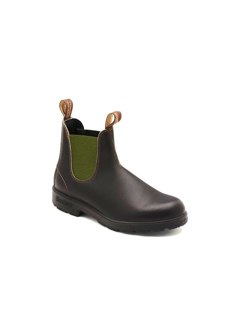 Chelsea boot in brown leather with green elastic BLUNDSTONE | Ankle boots | 519 BC519