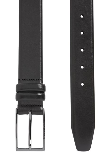 Two-tone belt in vegetable tanned leather BOSS | Belt | 50239979001