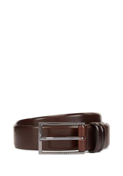Cintura bicolore in pelle conciata al vegetale BOSS | Cinture | 50239979202