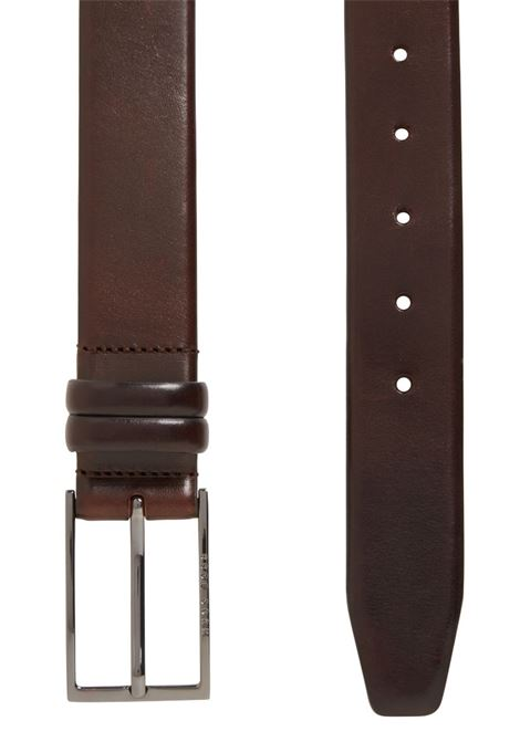 Two-tone belt in vegetable tanned leather BOSS | Belt | 50239979202