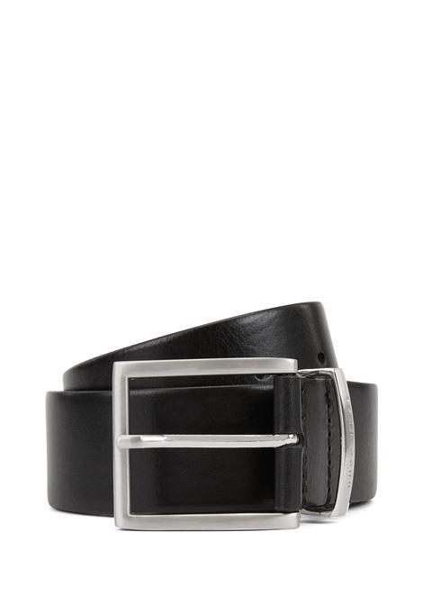 Cintura in pelle con fibbia ad ardiglione argento BOSS | Cinture | 50292246001