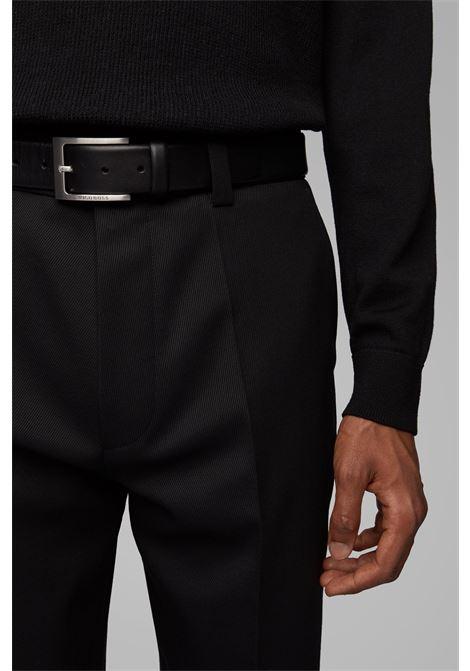 Leather belt with logo-engraved buckle BOSS | Belt | 50292247002