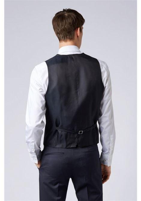 Slim-fit waistcoat in virgin wool BOSS | Vest | 50318500401