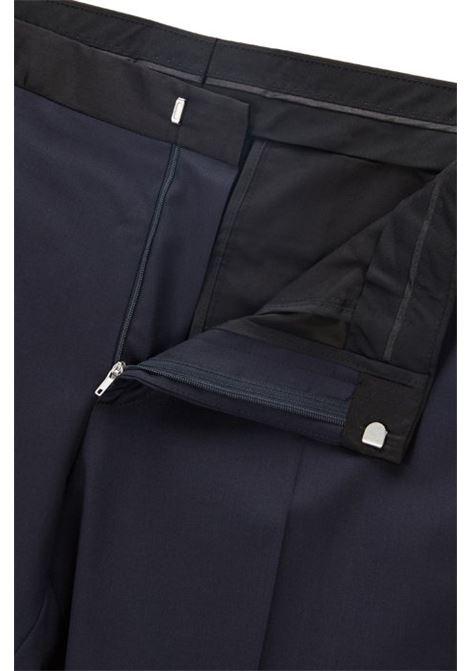 Pantaloni formali slim fit in lana vergine con finiture in seta BOSS   Pantaloni   50375814401