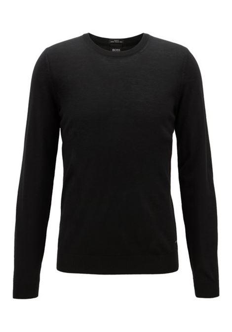 leno Maglione in lana vergine - nero BOSS | Maglie | 50378575001