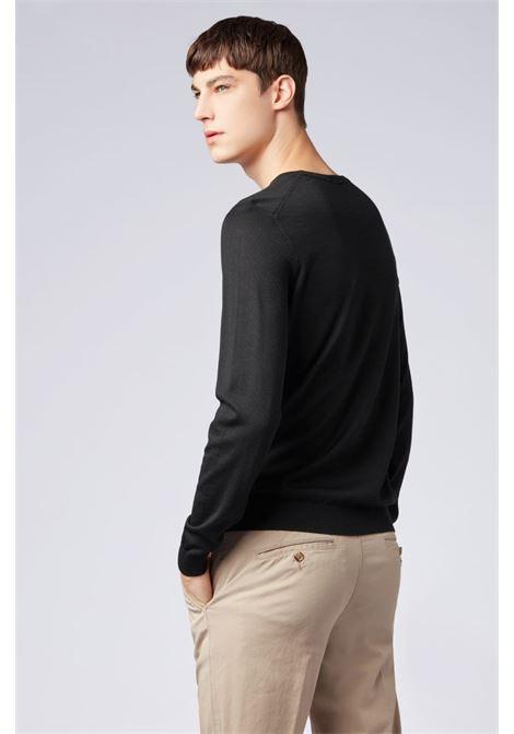 Virgin wool sweater - black BOSS | Knitwear | 50378575001