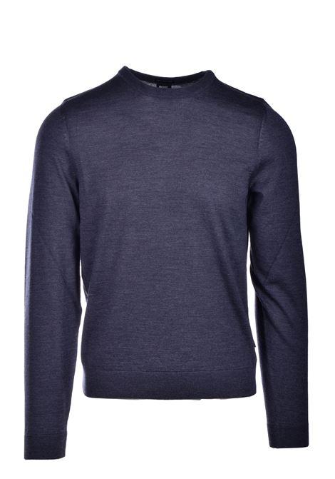 leno-p Maglione in lana vergine - grigio BOSS | Maglie | 50378575061