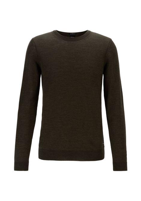 leno Virgin wool sweater - open green BOSS | Sweaters | 50378575341