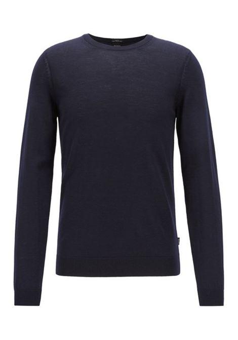 leno Virgin wool sweater - dark blue BOSS |  | 50378575402
