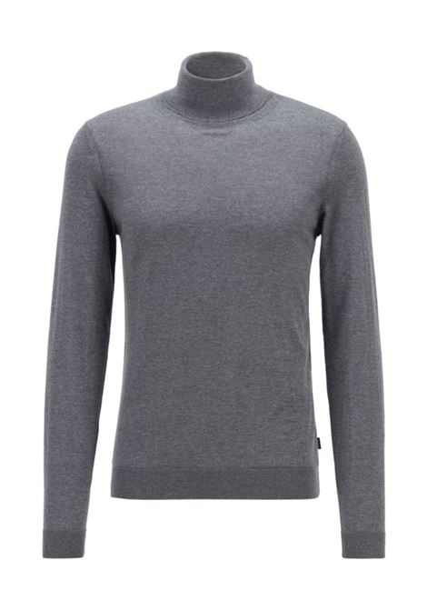 famaurie turtleneck sweater - grey BOSS | Sweaters | 50379079030