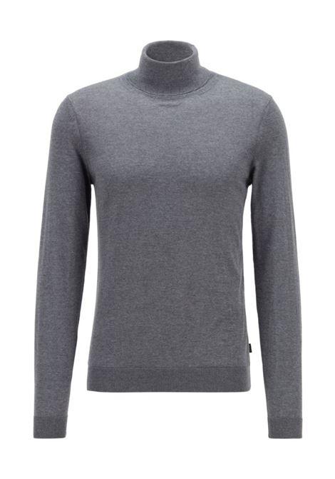 famaurie maglione a collo alto - grigio BOSS | Maglie | 50379079030