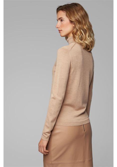 famaurie maglione a collo alto - beige BOSS | Maglieria | 50379079235