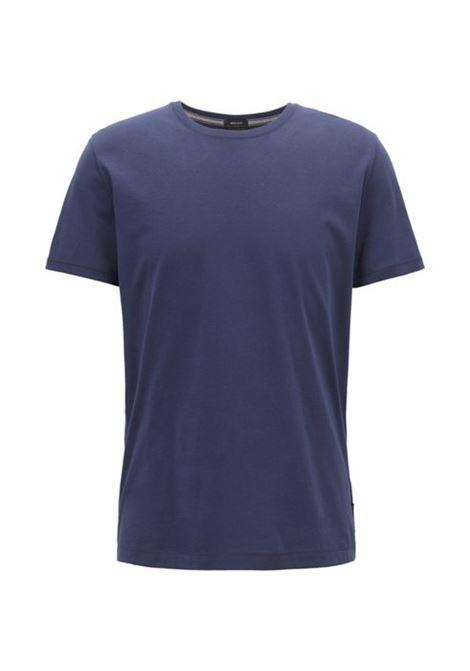 Tiburt55 T-shirt girocollo in puro cotone - blu scuro BOSS | T-shirt | 50379310402