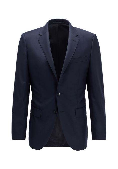 Slim-fit tailored jacket harvers - blue
