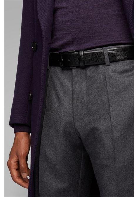 elloy Cintura in pelle martellata con fibbia - nero BOSS | Cinture | 50386188001