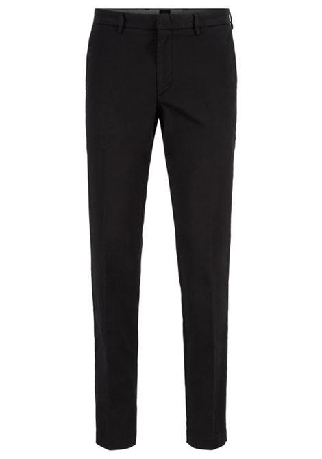 Kaito pantalone chino in gabardine - nero BOSS   Pantaloni   50410310001
