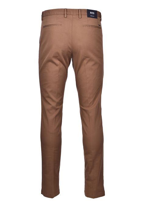 Kaito pantalone chino in gabardine - marrone scuro BOSS   Pantaloni   50410310206