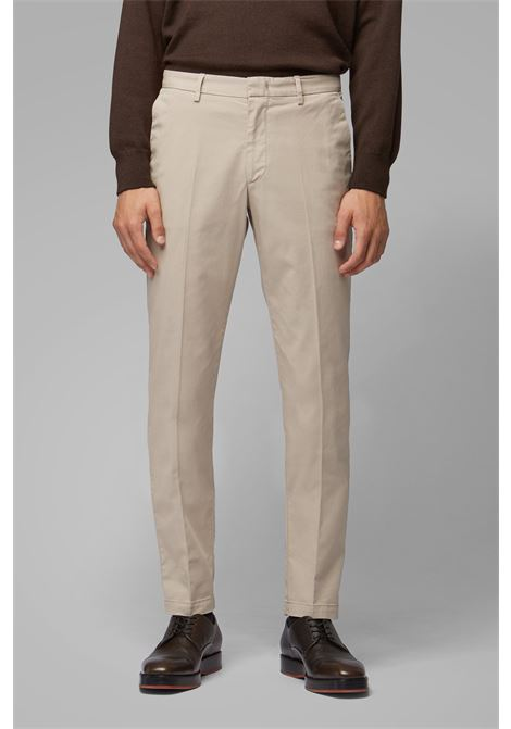 Slim-fit chinos in stretch-cotton gabardine - beige BOSS | Trousers | 50410310294