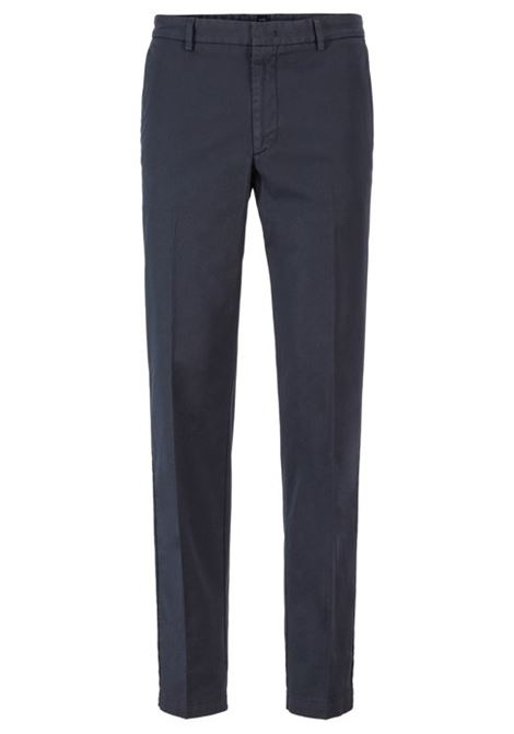 Kaito pantalone chino in gabardine - blu scuro BOSS   Pantaloni   50410310402