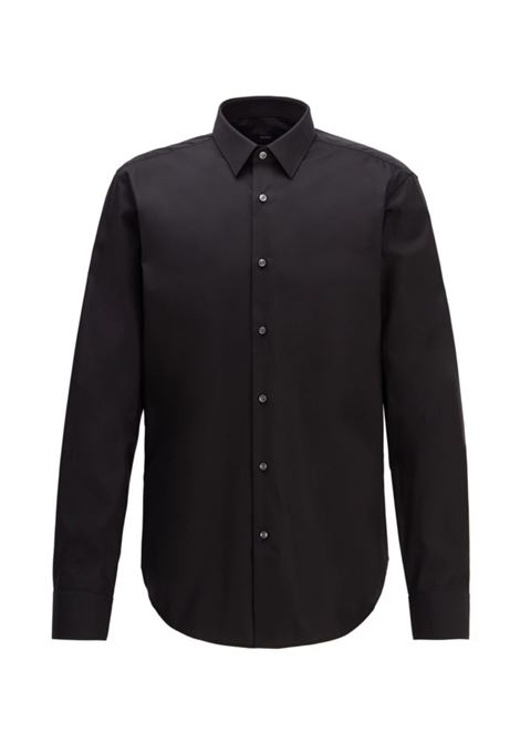 eliott Camicia regular fit in cotone easy iron - nero BOSS | Camicie | 50416086001