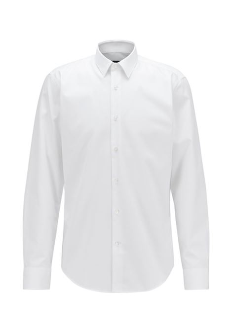 eliott Camicia regular fit in cotone easy iron - bianco BOSS | Camicie | 50416086100