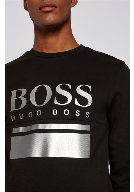 Maglione slim fit con logo stampato - nero BOSS | Felpe | 50434921009