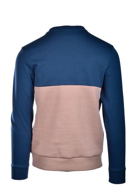 salbo Maglione slim fit con logo stampato - blu e beige BOSS | Felpe | 50434921960