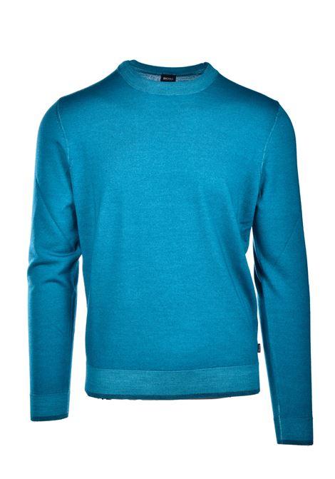 Maglione girocollo in lana vergine e seta BOSS | Maglie | 50435289323