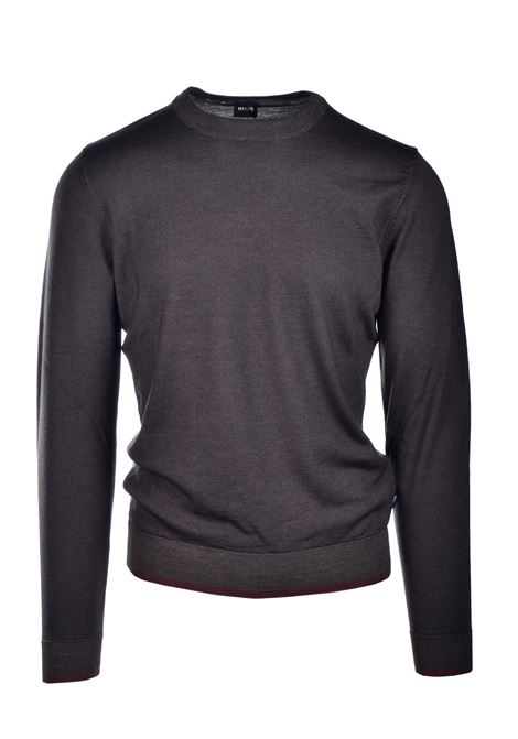 Maglione girocollo in lana vergine e seta BOSS | Maglieria | 50435289342