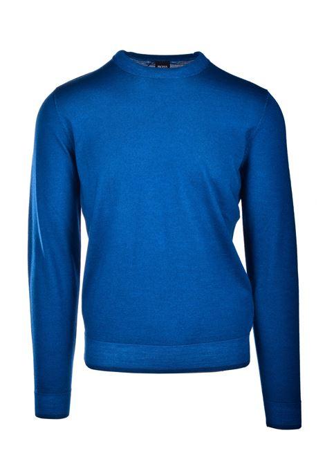 Maglione girocollo in lana vergine e seta BOSS | Maglie | 50435289417