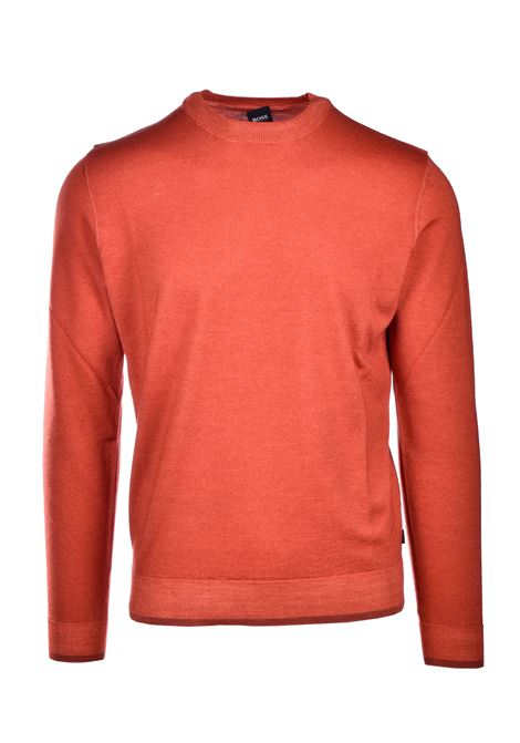 Maglione girocollo in lana vergine e seta BOSS | Maglie | 50435289844