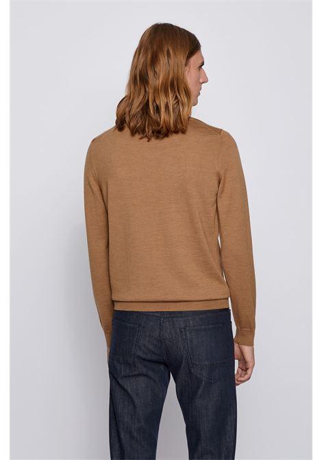 Cardigan con zip in lana vergine italiana con logo ricamato BOSS | Maglieria | 50435451262