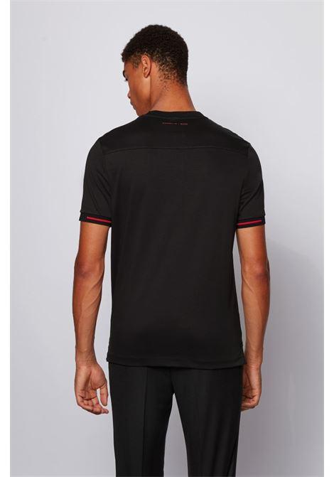 T-shirt a girocollo in cotone con stampa porsche BOSS | T-shirt | 50435790001