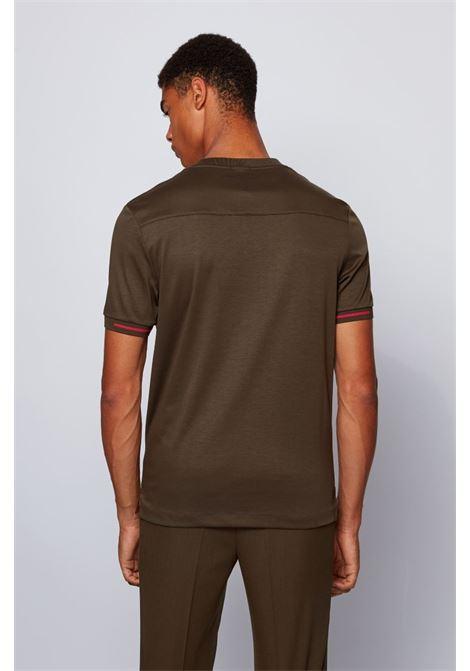 T-shirt a girocollo in cotone con stampa porsche BOSS | T-shirt | 50435790342
