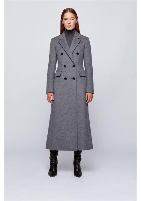 Cappotto doppiopetto lungo in lana vergine mélange BOSS | Cappotti | 50435909030