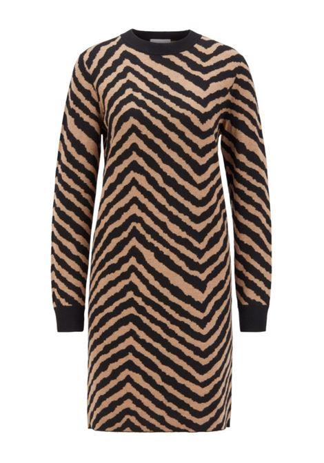Jacquard knit dress with a herringbone pattern BOSS   Sweaters   50436192960