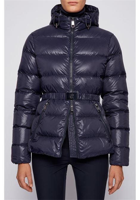 Slim fit quilted down jacket with blue belt BOSS | Jackets | 50436340466