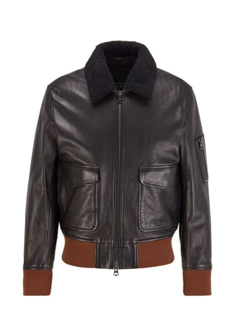 mocket Relaxed fit leather jacket BOSS | Jackets | 50436408001