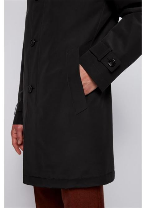 Regular fit overcoat in recycled memory fabric BOSS | Coat | 50436691001