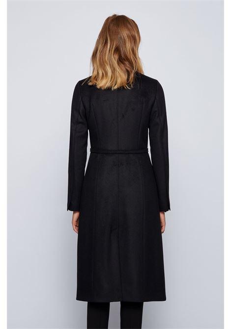 Cappotto in misto lana vergine con cintura con dettagli in metallo BOSS | Cappotti | 50437842001