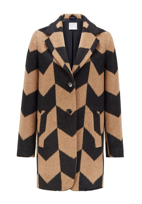 Relaxed fit coat in textured fabric BOSS | Coat | 50438184960