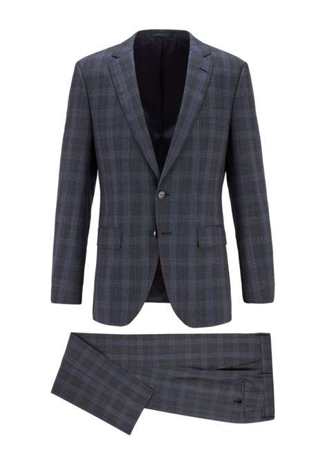 Huge / Genius Slim fit men's suit in Prince of Wales virgin wool BOSS | Dresses | 50438224417