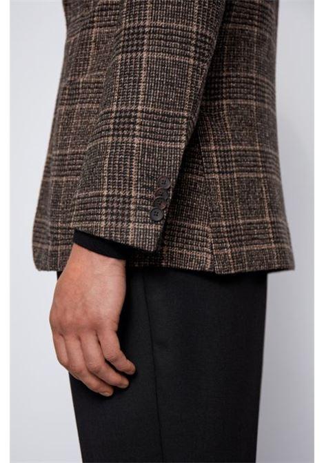 Giacca slim fit in misto lana vergine a quadri BOSS | Giacche | 50438488202