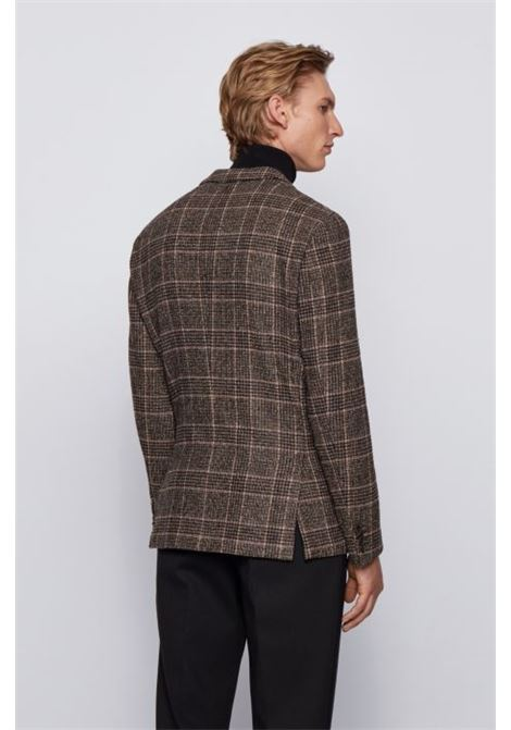 Slim fit jacket in checked virgin wool blend BOSS | Blazers | 50438488202