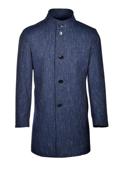 Salt and pepper men's coat with placket BOSS | Coat | 50438522417