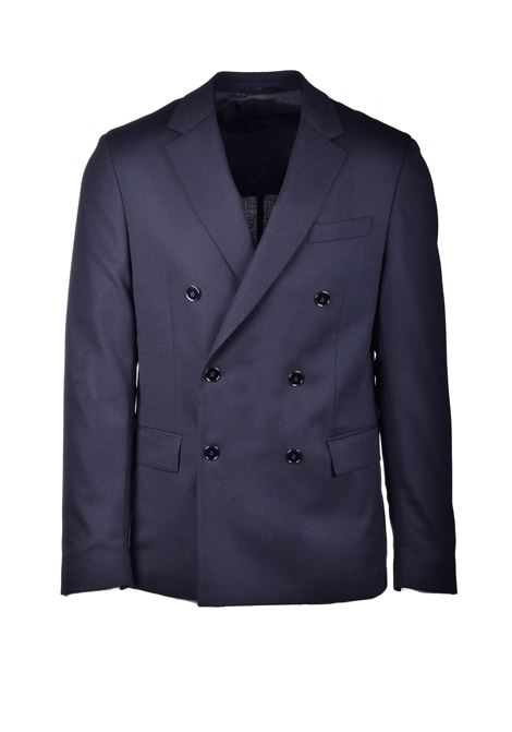 Black double-breasted jacket in virgin wool BOSS | Blazers | 50438587001