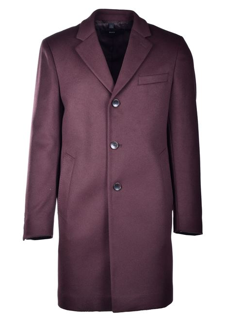 Neye Slim fit coat in virgin wool and cachmere - brown BOSS | Coat | 50438689244