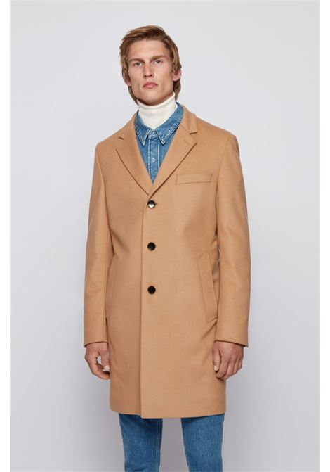 Neye Slim fit coat in virgin wool and cachmere - beige BOSS | Coat | 50438689262